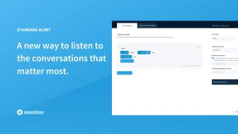 Mention introduces new Standard Alert for smarter social listening