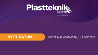 Plastteknik Nordic flyttar fram till den 1-2 december 2021