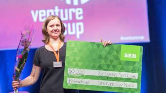 Vinnare av priset Student Superstart FreezFiler, Barbara Terebieniec. Foto: Hampus Carlson