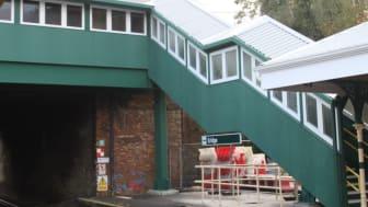 The new footbridge at Eridge station
