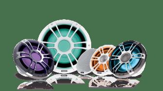 Garmin® ja Fusion® esittelevät markkinoiden ensimmäiset  viisiväri-LED-valaistuksella varustetut  Signature Series 3 -sarjan venekaiuttimet ja -subwooferit
