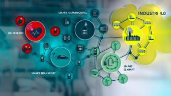Industri 4.0 - digitale løsninger skal effektivisere industrien. Illustrasjon: Trainor