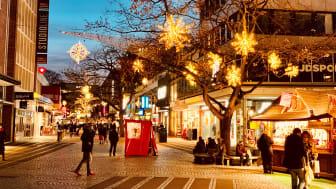 leere Innenstadt ohne Weihnachtsmarkt