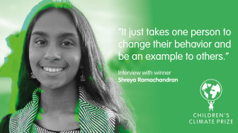 """""""Det krävs bara att en person ändrar sitt beteende och är ett föredöme för andra"""" – Intervju med vinnaren Shreya Ramachandran"""