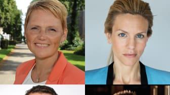 Martin Linder, Anna-Karin Hatt, Anna Felländer och roboten Furhat.