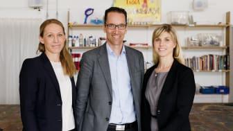 Sofie Eliasson Morsink, vd Coca-Cola European Partners Sverige, Henrik Samuelsson, vd Paulig Foods, Martina Flemström, GM Upfield AB