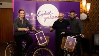 Vinnarna av Cykelvänligaste arbetsplats 2018 och Årets Nytänk