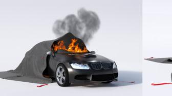 Brandfilten Bridgehill släcker bilbranden snabbt och effektivt