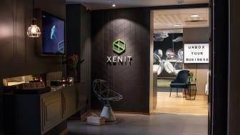 Bild från entrén till Xenits huvudkontor i centrala Göteborg