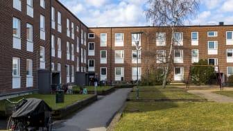Bostadsgården Bennets väg 16–20 på Örtagården.