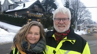 Prosjektleder Laila Nilssen og byggeleder Steinar Braaten i Sporveien.