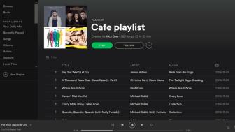 SOURCE: A screenshot of a café playlist on Spotify