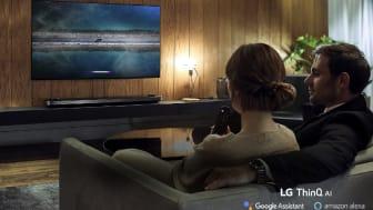ThinQ AI og andengenerations Alpha 9 (α9) processor løfter brugeroplevelsen af LGs nye tv-modeller til næste niveau