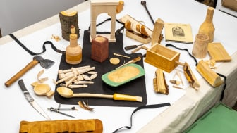 Imaginary wooden artefacts, purporting to be from an ancient shrine to a Roman goddess, have been created as a collection of artworks by Northumbria University lecturer Philip Luscombe.