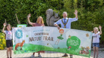 Mayor Cllr, William McCaughey launches Carnfunnock Country Park's brand new Nature Trail.