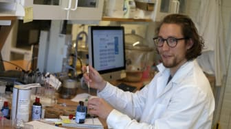 Emil Johansson, doktorand på Kemiska institutionen. Foto: Anna-Lena Lindskog