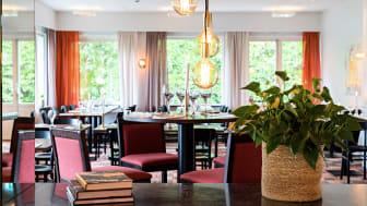 En bild från matsalen på Mjölby Stadshotell