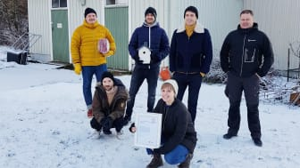 Bakre raden, fr v: Emil Johansson, Matthias Grimm, Ludvig Stolterman, Mattias Palmqvist. Främre raden, fr v: Emil Edeholt, Vilma Larsson.