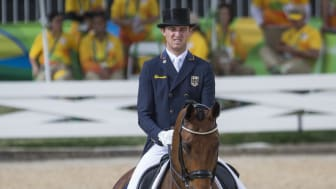 Sönke Rothenberger and Cosmo bound for Sweden International Horse Show. Photo: Roland Thunholm