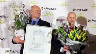 Björn och Staffan Aronsson tar emot utmärkelsen för 2019 vid årets gala.