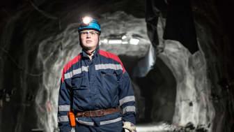 – Jämfört med de brytningsmetoder som idag används på stora djup runt om i världen har Raise Caving flera fördelar, förklarade Matthias Wimmer, chef för Mining Technology hos LKAB i Kiruna. Foto: LKAB