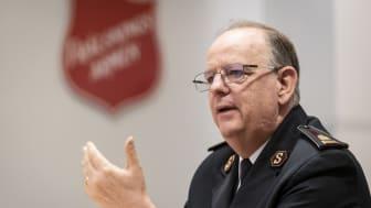 General André Cox på presskonferensen 20 april 2018 i Stockholm. Foto: Jonas Nimmersjö