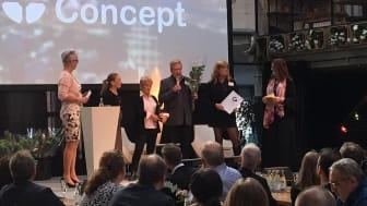 Autoconcepts vd Ulf Coxner tar emot pris som Årets tillväxtföretag under Inspirationsdagen som Business Region Göteborg anordnar. Foto: BRG