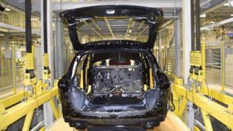 Car in warehouse