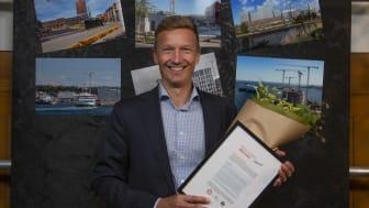 VA SYD tilldelas utmärkelsen årets Fastighetspartner 2021