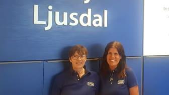Butikschef Karin Nilsson och biträdande butikschef Annika Andersson.
