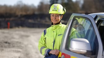 Marie Apelgren, arbetsledare hos Cementa i Skövde