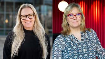 Produktionschef Sara Törn och marknads- och försäljningschef Ewa Woldenius (foto: Anneli Johansson)