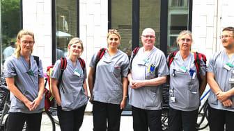 Det mobila sjukhusteamet från Skånes universitetssjukhusger vård i hemmet