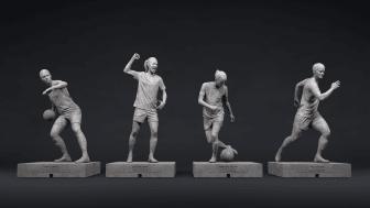 Coca-Cola och Svenska Fotbollförbundet tar fram avbilder av fyra kvinnliga fotbollsstjärnor – en del av jämställdhetsinitiativet Football Forevher