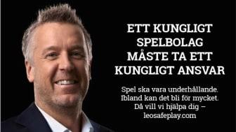 Tommy Söderström är en av de ambassadörer som fortsätter att profilera LeoVegas.