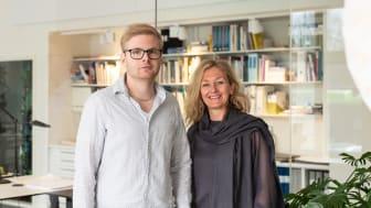 Nini Foyn och Johan Jennergren ny kontorschef respektive gruppchef för Carlstedt Arkitekter i Nyköping