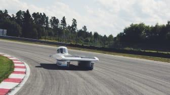 Testkörning av solbilen
