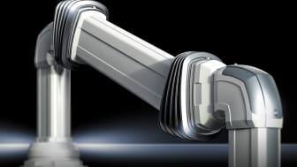 Rittal CP-bärarmssystem kan nu lätt ställas in i höjdled för att säkra en mer ergonomisk arbetsplats för maskinoperatörer av olika längd.