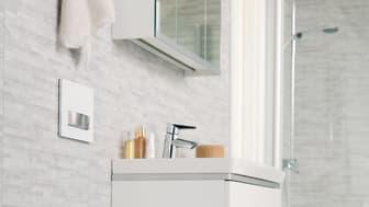 Suomalaisten unelmien kylpyhuone on värimaailmaltaan neutraali. Yhä useampi haluaisi kotiinsa  seinä-wc:n.