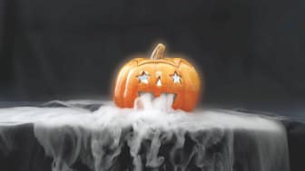 Tørris til Halloween-dekorasjoner. Foto: AGAs bildearkiv