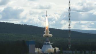 The MASER14 rocket taking off from Esrange, Sweden (Credit: Christophe Minetti, ULB).