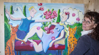 Eva-Lena Martinsson är en av det 100-talet konstnärer som ställer ut på Tjolöholm under Kristi himmelfärdshelgen.