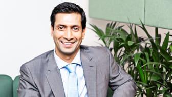 HOPPER I DET: Gaurav Vij går fra Sopra Steria i Norge til selskapets britiske avdeling - der han skal være med å bygge opp forretningsrådgivning-enheten.