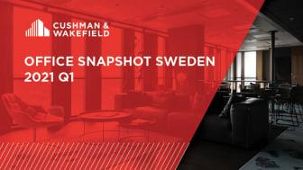 I senaste Office Snapshot Sweden Q1 2021 presenterar Cushman & Wakefield aktuell kvartalsdata och trender för kontorsmarknaden i städer över hela Sverige med specialfokus flexibla kontorslösningar.