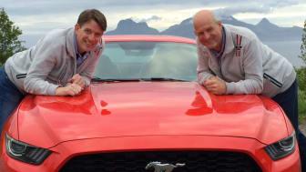 Knut og Henrik satte verdensrekord i økokjøring med en Ford Mustang ved å kjøre 1249,3 km på en tank.