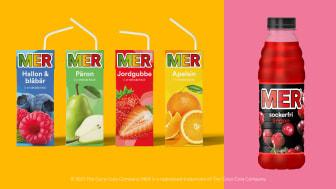 MER Brik i ny design och den nya smaken MER Sockerfri Lingon