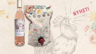 Miljøsmarte rosényheter lanseres på Polet i mai- Adobe Rosé PET og pouch fra Casablanca Valley i Chile