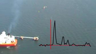Optical sensing of sulphur emissions by plane