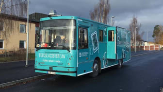 Biblioteksbussen i Lindesberg invigs på skyltsöndagen