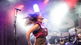 Hedda Hatar från Lund var ett av Nemis-banden på Sweden Rock Festival 2018. Foto: Lasse Johansson